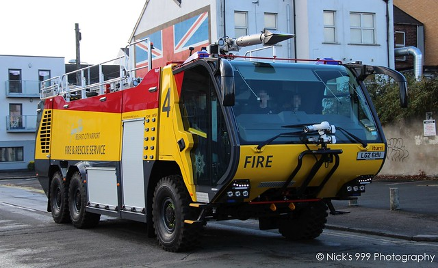 Belfast City Airport Fire Service / Fire 4 / LGZ 6191 / iTurri MTEC 670 / Rapid Intervention Crash Tender