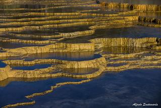 Terrazas Naturales Mammoth Springs Yellowstone National P