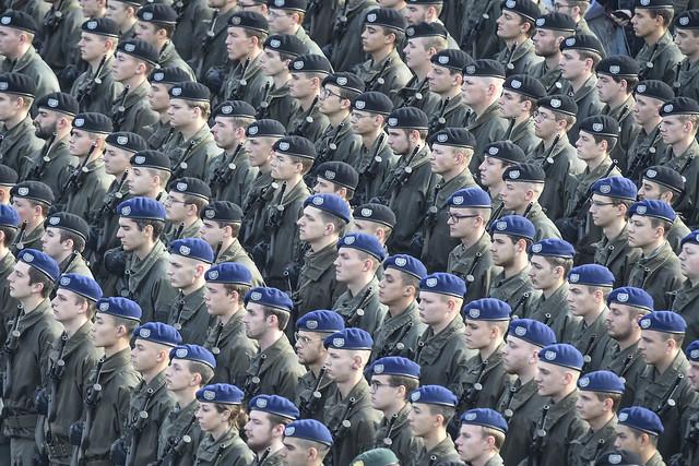 Rekruten am Heldenplatz