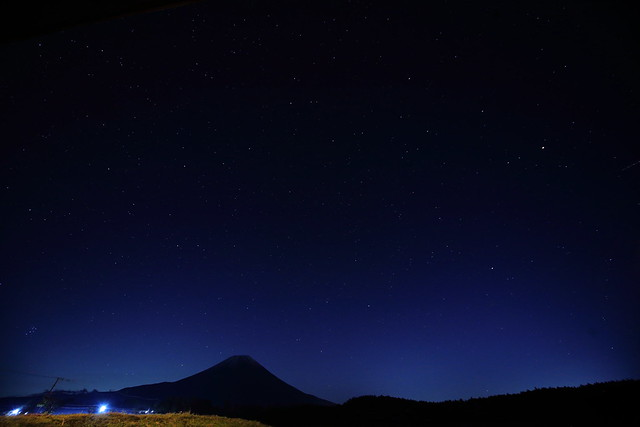 Mt.Fuji and Starry sky