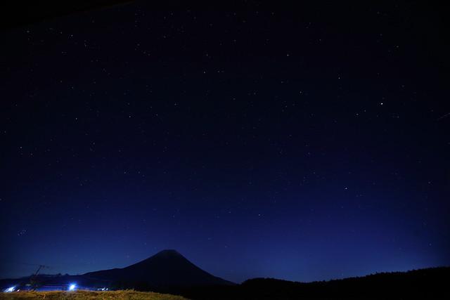 Mt.Fuji and Starry sky