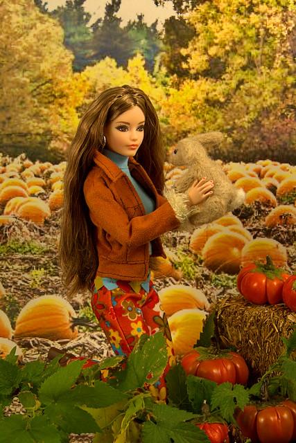 A friend in the pumpkin patch