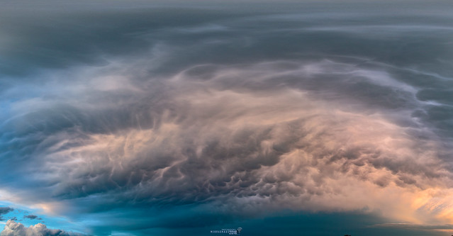062318 - Dying Thunderstorms @ Sunset (Pano) 024
