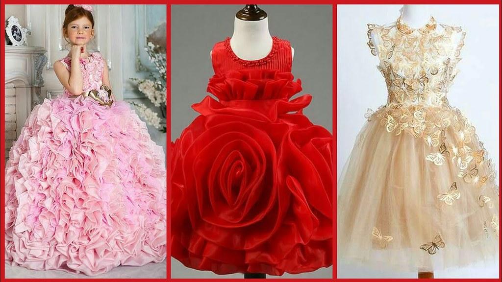 8b7aeaae0ee3 ... Latest Baby Gown Dresses Buy Online//Kids Princes Style Frockd//Kids  party