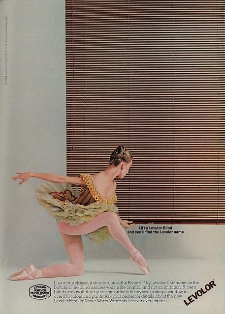 1984 Ad, Levolor Blinds, Ballet Dancer