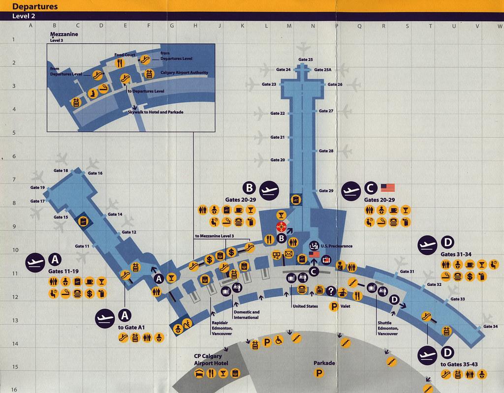 Calgary International Airport Guide; 2000_2, terminal map ...