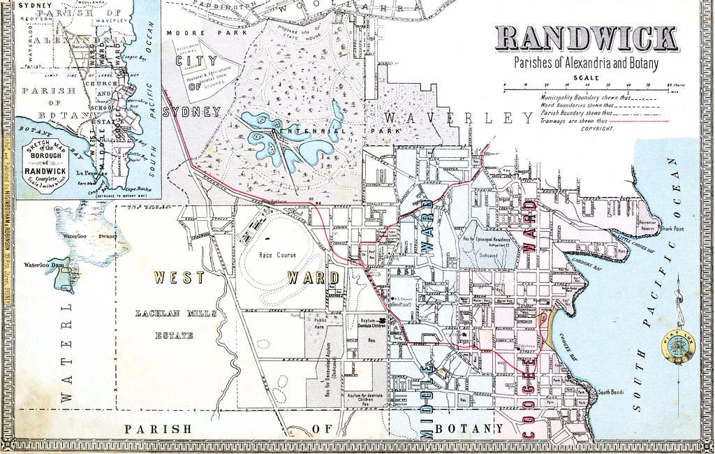 Map Of Nsw Australia.1886 Borough Of Randwick Map Sydney New South Wales Flickr
