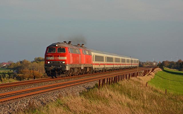 DB 218 341-6 + 218 835-7 - Westerklanxbüll