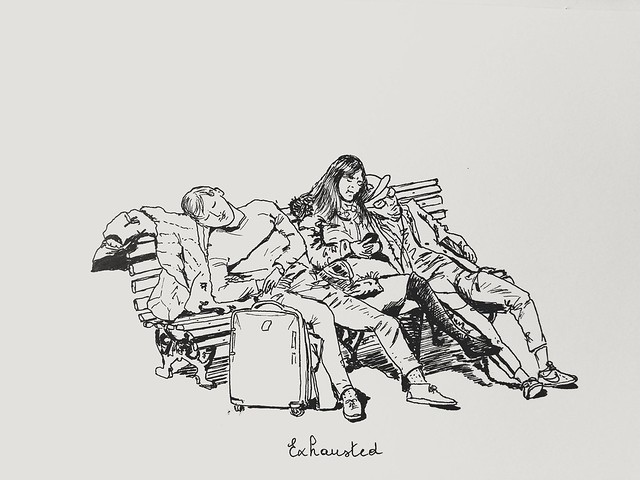 Inktober 2018 #6, Exhausted
