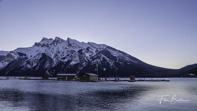 Mount Inglismaldie at Lake Minnewanka