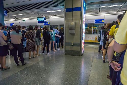 Waiting Lines in Bangkok Underground MRT at Rush Hour | by wuestenigel