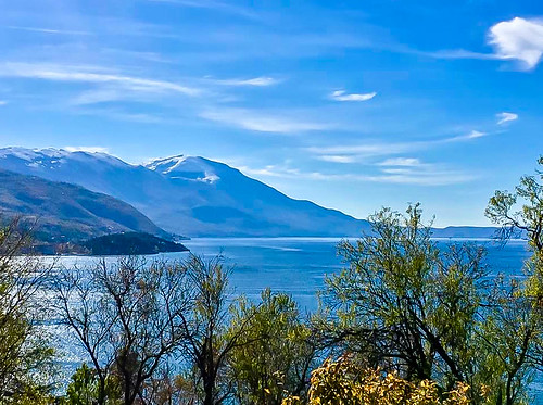 Lake Ohrid macedonia snow on the mountains 1 | by Living In Thailand