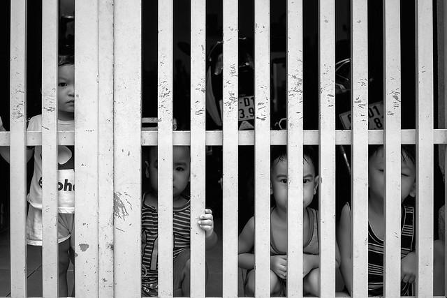 Children in the town