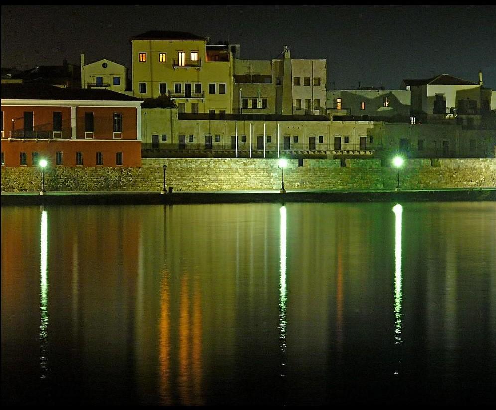 noche en el puerto.Xaniá