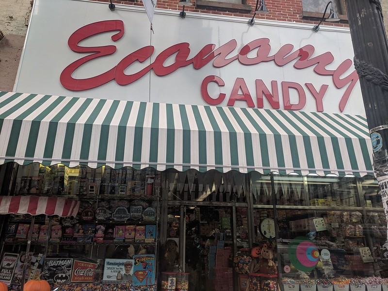 Economy Candy storefront, New York City, NY, USA