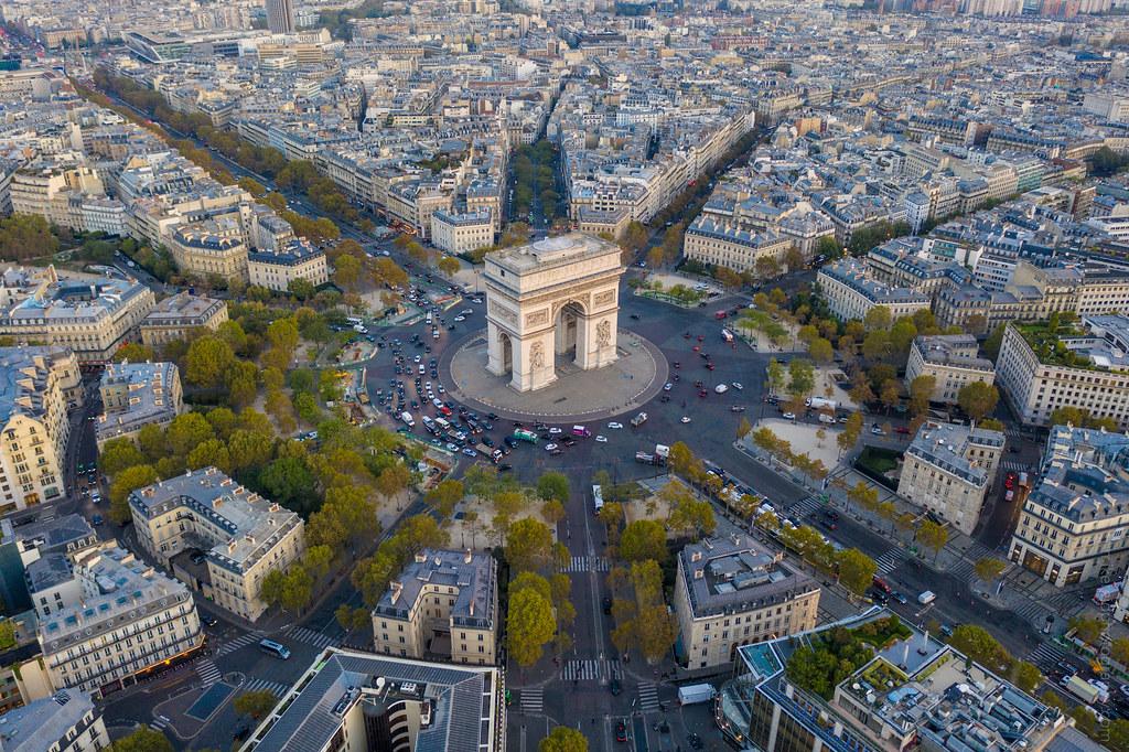 Over the Arc de Triomphe DJI Mavic Pro 2