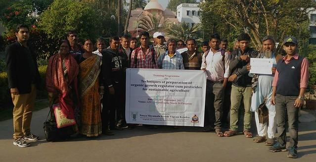 On campus training for PKVY farmers by SSKVK, RKMVERI at RKM, Narendrapur Sasya Shyamala Kvk