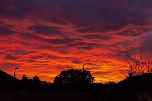 sunset wimborne dorset october autumn colours red firey nikon d7200