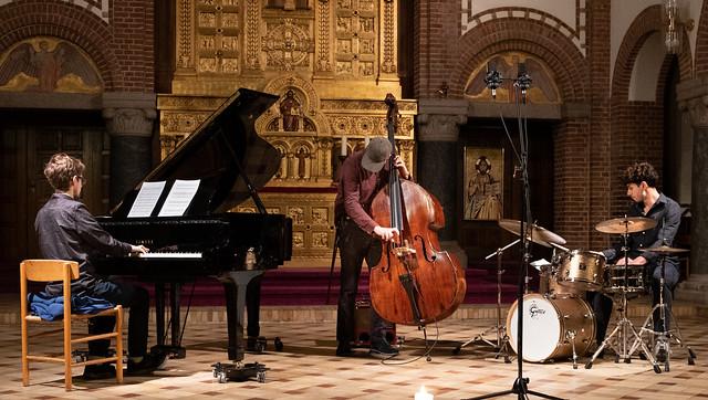 Concert with Sebastian Zawadzki-Richard Andersson-Bruno Tagliasacchi Masia in Augustine Church, Copenhagen