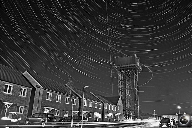 40 Minute Water Tower Star Trails (Mono) 06/10/18