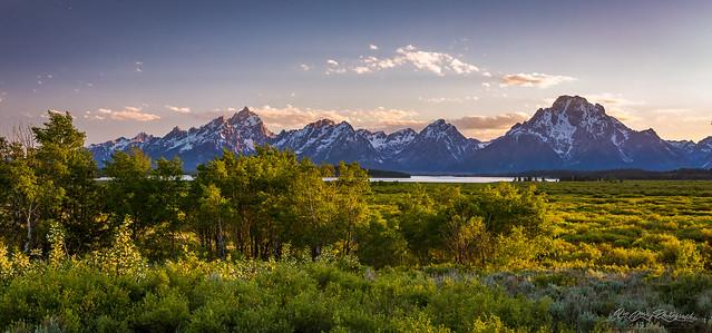 Summer Sunset on Grand Teton Range