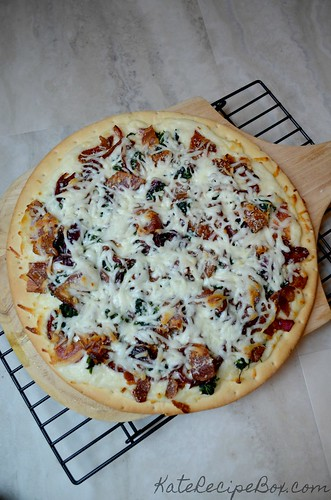 OnionBaconSpinachPizza2 | by katesrecipebox