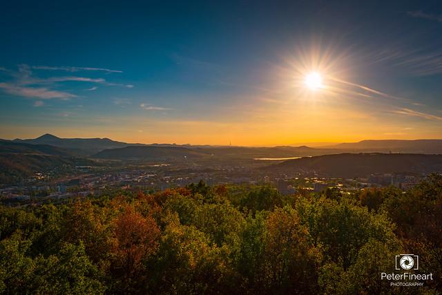 Sunset landscape, Czech Republic