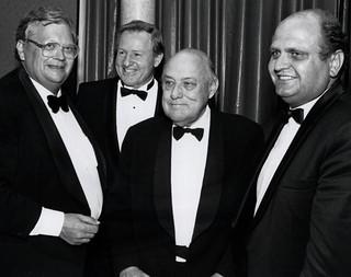David Lange, Jim Bolger, Robert Muldoon and Mike Moore, 1992
