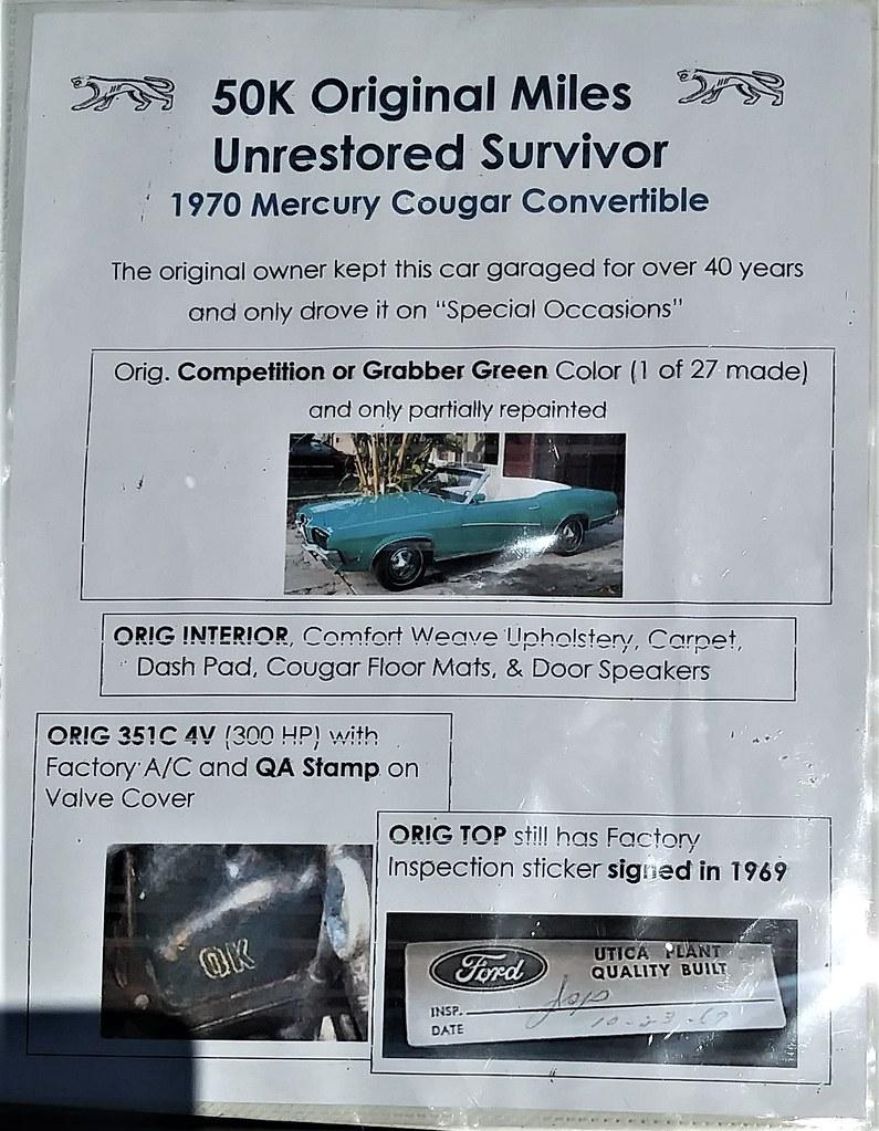 1970 Mercury Cougar Convertible Storyboard | The CHP Cops