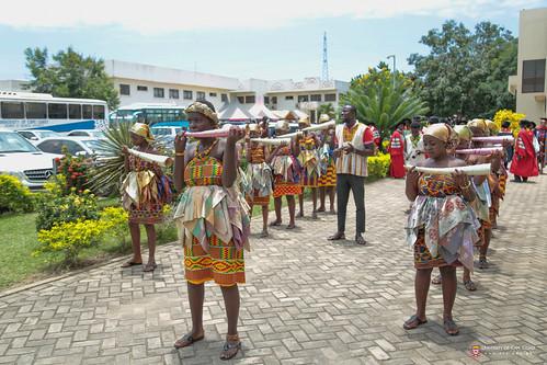 Mmensuon leading the Convocation procession