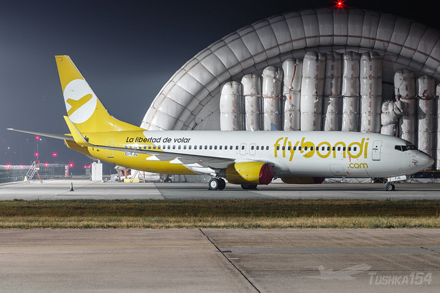 Flybondi   Boeing 737-8JP   EI-FJG (future LV-HXQ)   BUD/LHBP