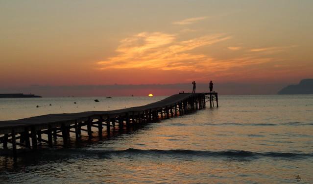 Alcudia majorca spain beach sunrise sept 2018  (10)