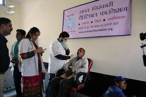 Dental checkup in the village