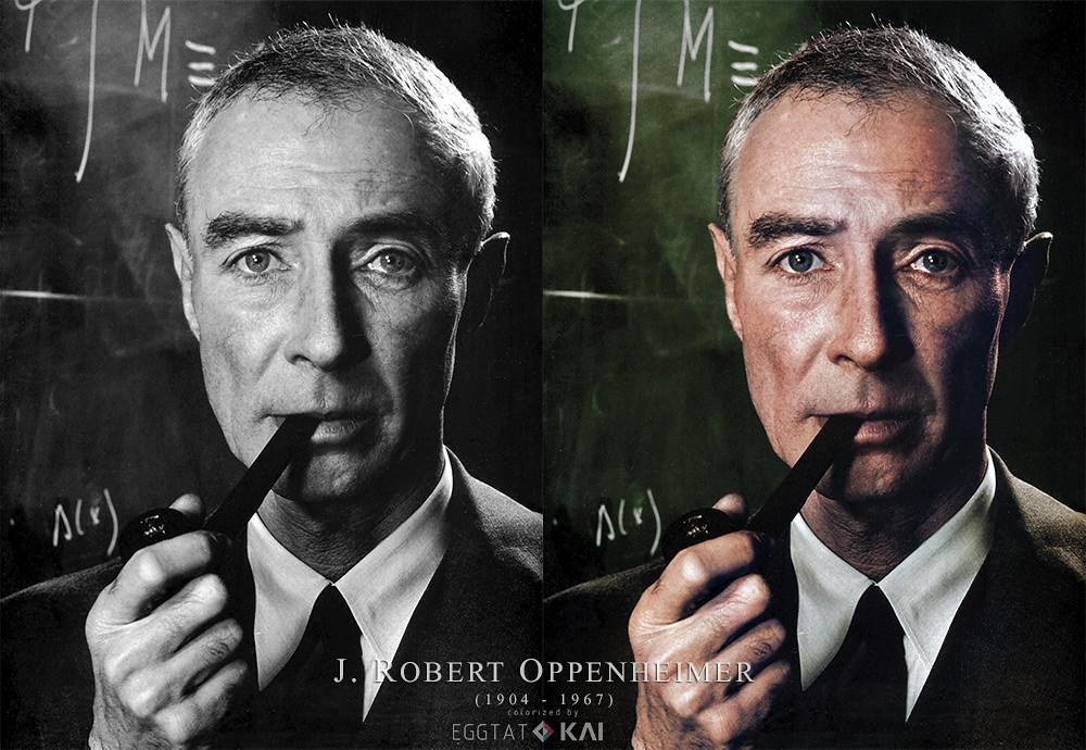 J Robert Oppenheimer 1959 Colorized J Robert Oppenheime