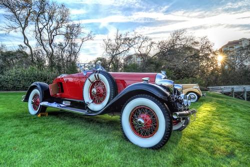 ameliaislandconcoursdelegance florida auburn antique automobile red sunrise grass sun 2018