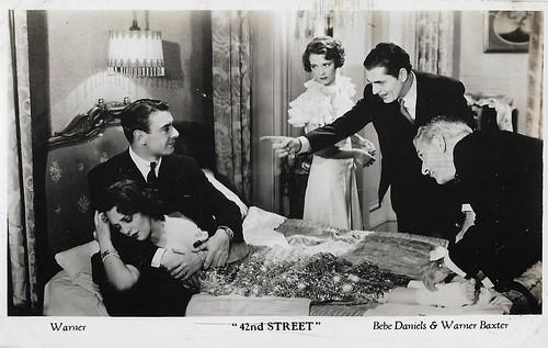 European Film Star Postcards 42nd Street 1933