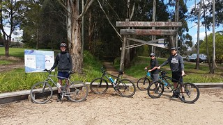 Bike trail start at Boolarra