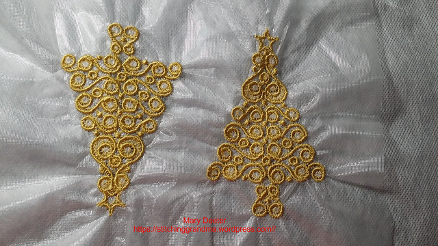 Free standing lace ornaments