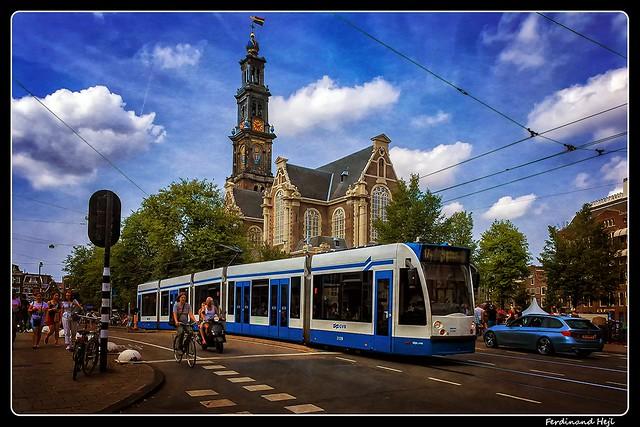 Amsterdam_Westerkerk_Westermarkt_Netherlands
