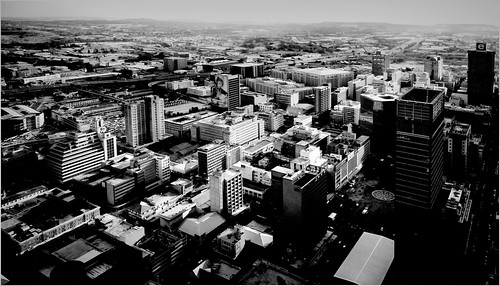 johannesburg carltoncentre topofafrica view panoramic mono bw blackandwhite sony rx10 cybershot bridgecamera cbd citycentre innercity