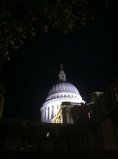 London skyline by night: St Paul's Cathedral | by Mary Loosemore