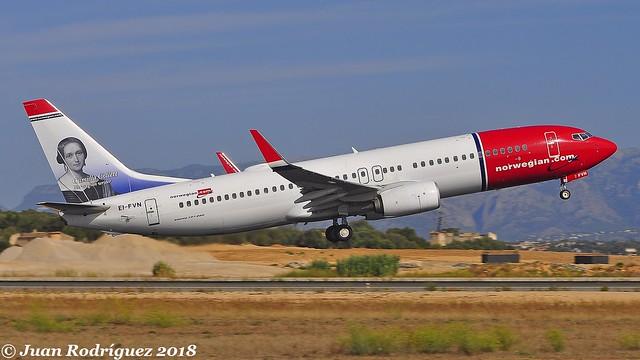 EI-FVN - Norwegian Air International - Boeing 737-8JP(WL) - PMI/LEPA