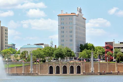 cityscape lake promenade architecture park downtown hotel lakeland florida unitedstates
