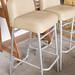 Tall cream leather chairs E55 each