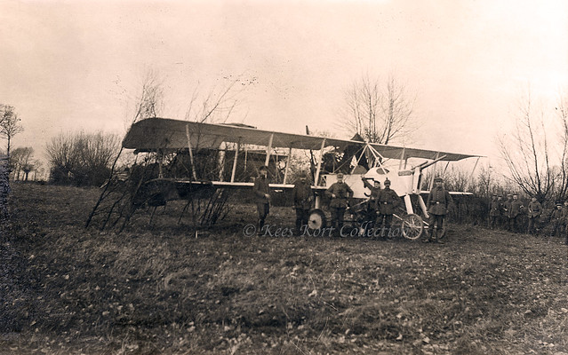 A captured Voisin Type IV Canon S.F.A. serial V.991 which was brought down on 10 January 1916 at or near Woumen (Belgium) [France, 1916]