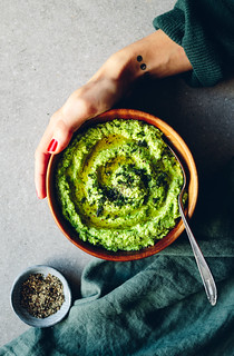 Green Pea Hummus with Feta Cheese & Dill | Cashew Kitchen | by cashewkitchen