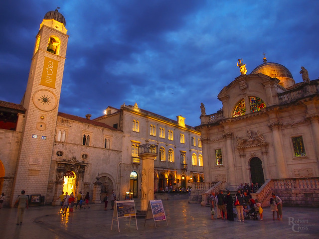 Blue Hour in the Heart of Medieval Dubrovnik