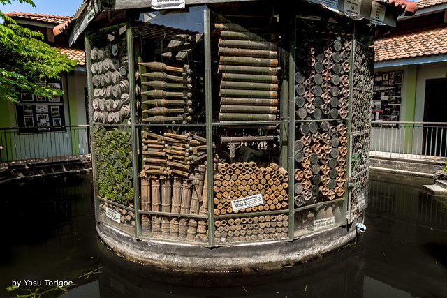 View of Some of the Bombs and Mines Found by Akira (see below) and Shown at the Akira Bomb Museum, Banteay Srei, Angkor, Cambodia-1