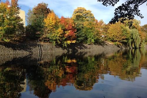 eilbekkanal hamburg herbst herbstfarben herbstmotiv ufer uhlenhorst spiegelung wasserspiegelung reflektion reflection