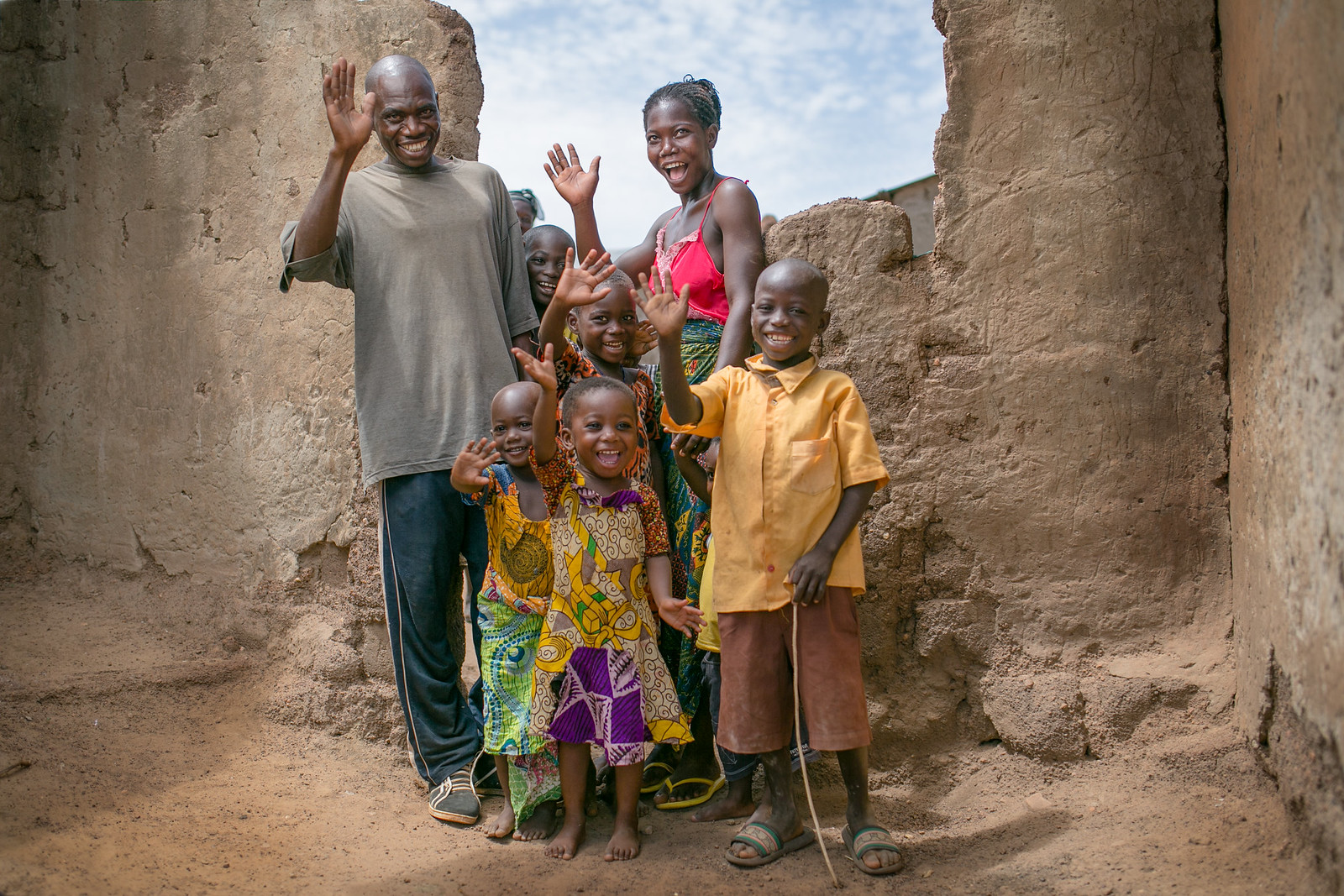A farmer and his family in northern Ghana. Photo credit: Michael Dakwa